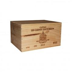 Château Les Carmes Haut Brion Pessac Léognan Rouge 2014 75cl (x6) - Coffret bois